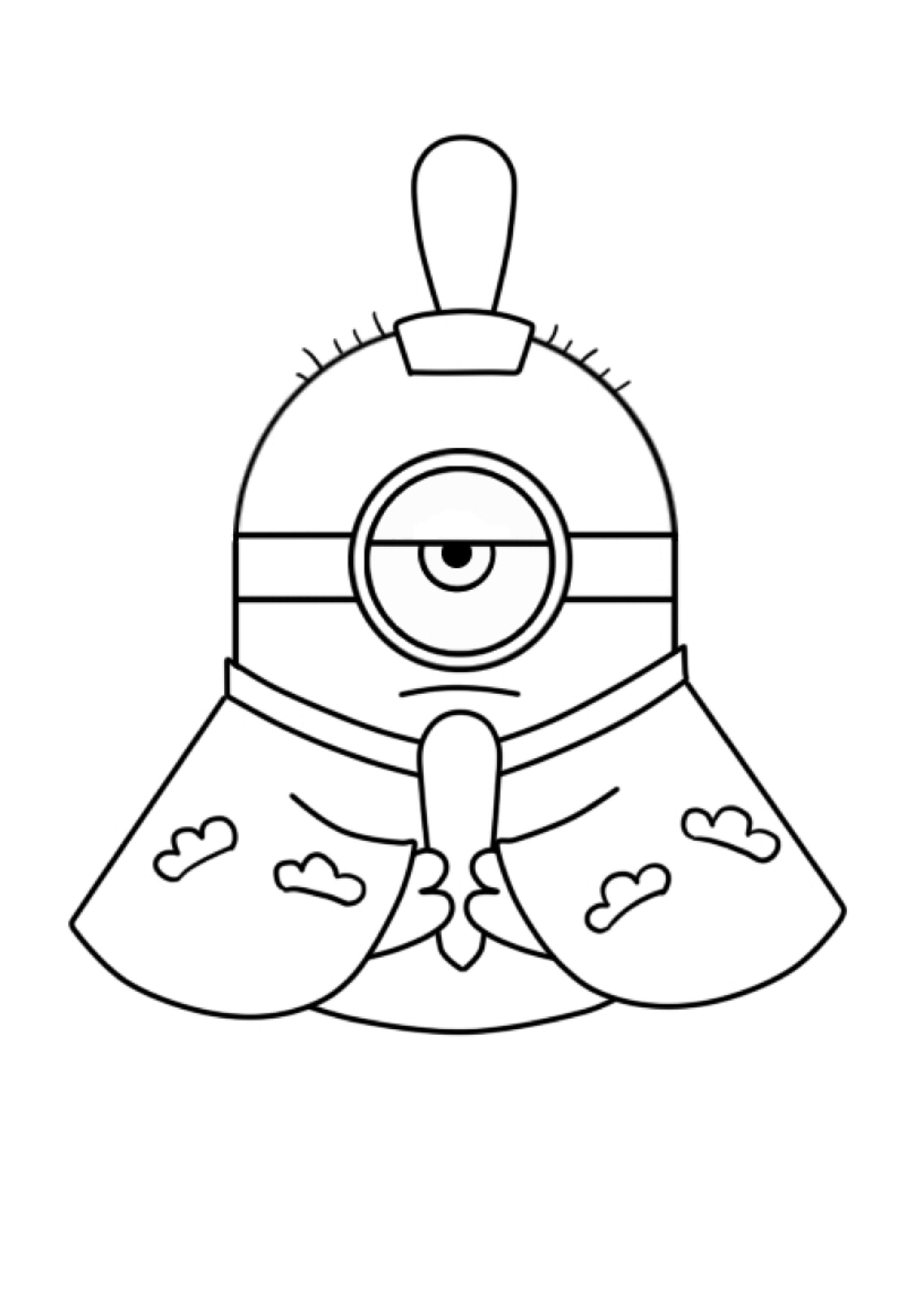 ミニオン モノクロ