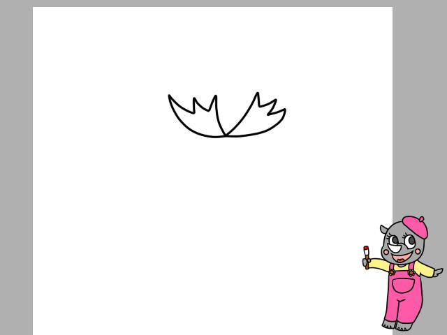 カーネーションイラストの簡単な描き方と色塗り リボンを描いて母の日っ