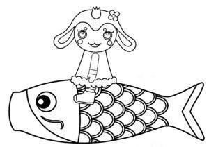 チョロミー 鯉のぼり ぬりえ
