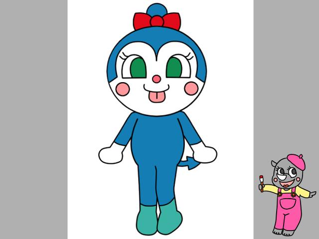 コキンちゃんイラストの簡単な描き方 全身を描く方法と色塗り