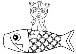 ムームー 鯉のぼり ぬりえ