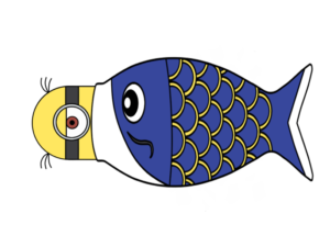 ミニオンズ 鯉のぼり フリー素材 青