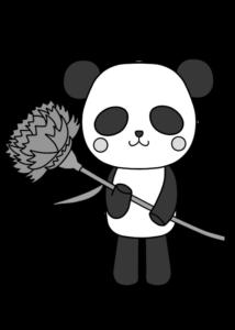 母の日用 白黒 フリー素材 パンダ