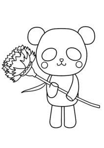 母の日 ぬりえ パンダ