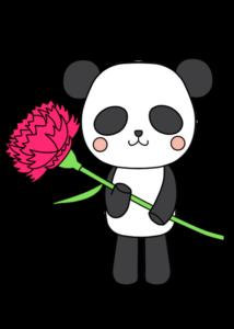 母の日 フリー素材 パンダ