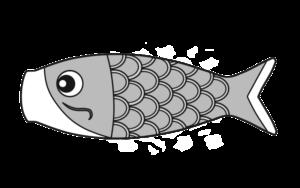 鯉幟 白黒 フリー素材