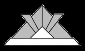 折り紙カブト 白黒 フリー素材