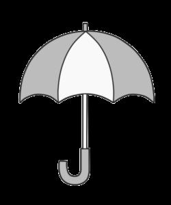 傘 白黒 フリー素材