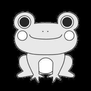 カエル 白黒 フリー素材