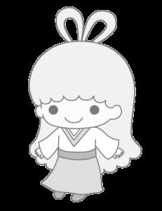 ララ 織り姫 白黒 フリー素材