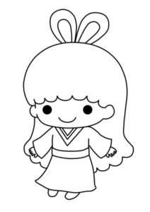ララ ぬりえ 織り姫