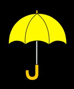 傘 フリー素材 黄色