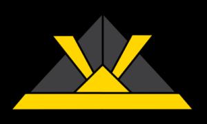 折り紙カブト フリー素材 黒・黄色