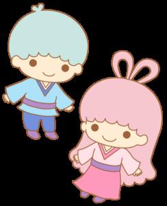 キキララ 織り姫&彦星 フリー素材