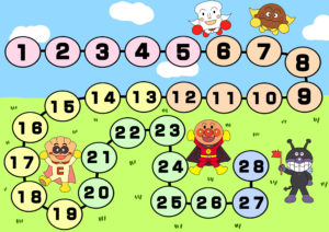 トイレトレーニング用カレンダー アンパンマン 28日 男の子