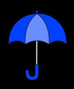 傘 青 フリー素材