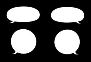 吹き出し フリー素材 シンプル バルーン型