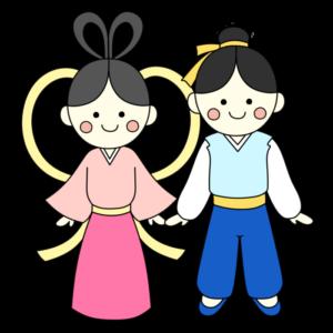 織り姫&彦星 フリー素材