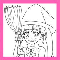 スター☆トゥインクルプリキュア風ぬりえ キュアスター(星奈ひかる) 無料ダウンロード・印刷