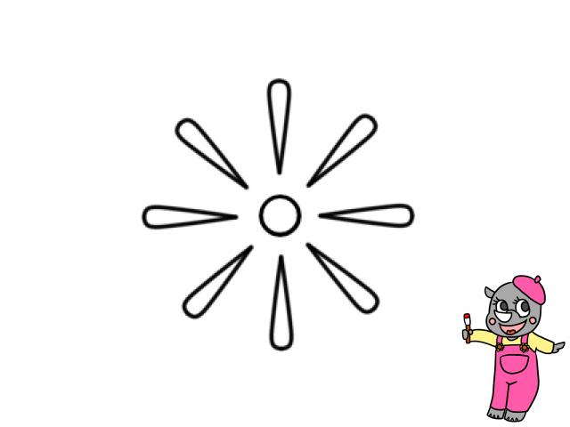 花火イラストの簡単な描き方 かくぬる工房