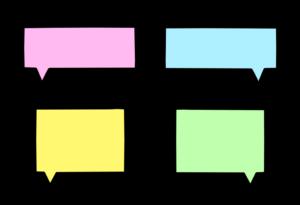 吹き出し フリー素材 カラー 四角形