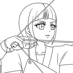 スター☆トゥインクルプリキュア ぬりえ キュアセレーネ 香久矢まどか