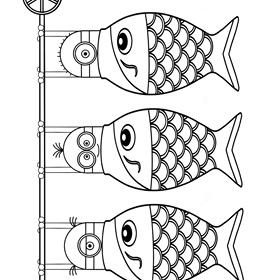 ミニオンズ ぬりえ こどもの日 鯉のぼり かしわ餅 兜