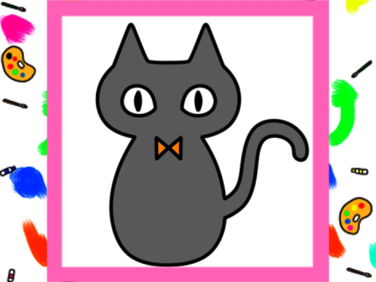 ハロウィン 黒猫イラストの簡単な描き方