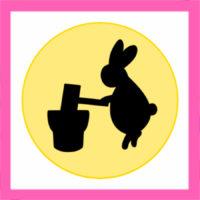 月とウサギのイラストの簡単な描き方