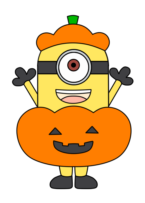 ハロウィン ミニオンズフリー素材 かぼちゃ