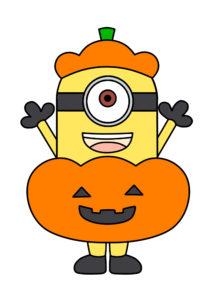 ハロウィン ミニオンズ 印刷用素材 かぼちゃ