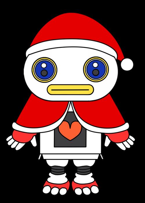 ガラピコぷ 風クリスマスイラストのフリー素材 背景透過png形式 かくぬる工房