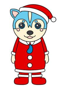 ガラピコぷ~ クリスマス サンタクロース 印刷用素材 ムームー