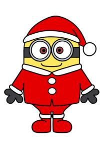 ミニオンズ クリスマスイラスト 印刷用素材 サンタクロース