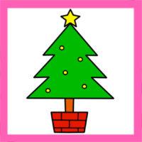 クリスマスツリーイラストの簡単な描き方