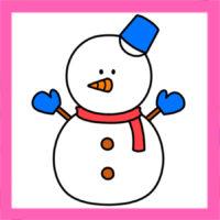 雪だるまイラストの簡単な描き方