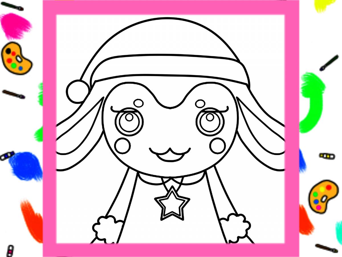 ガラピコぷ~風ぬりえのクリスマスイラスト 無料ダウンロード・印刷