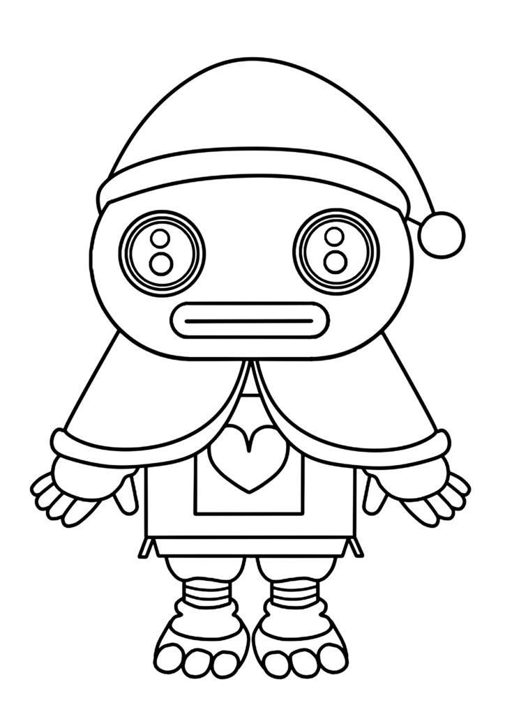 ガラピコぷ~ぬりえ クリスマス サンタクロース ガラピコ