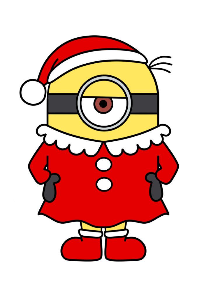 ミニオンズ クリスマスイラスト 印刷用素材 サンタガール
