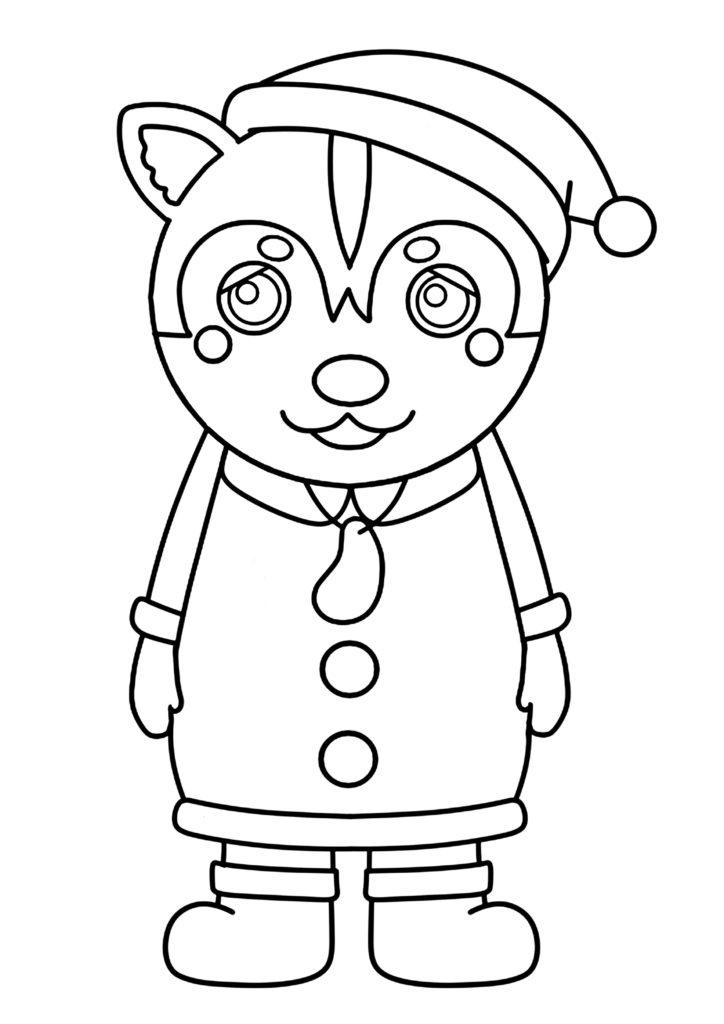 ガラピコぷ~ぬりえ クリスマス サンタクロース ムームー
