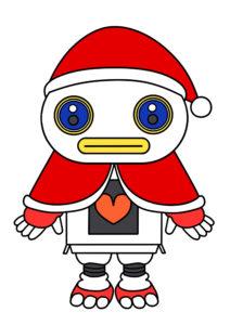 ガラピコぷ~ クリスマス サンタクロース 印刷用素材 ガラピコ