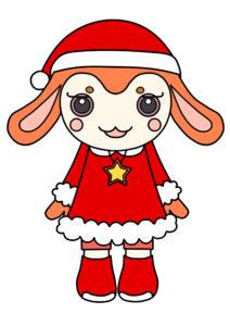 ガラピコぷ~ クリスマス サンタクロース 印刷用素材 チョロミー