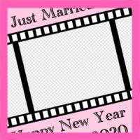 年賀状結婚報告用 2020年写真フレーム入り 無料テンプレート