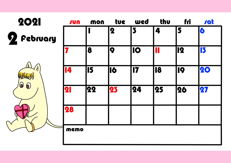 月 カレンダー 2021 2