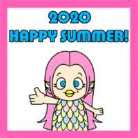 アマビエの暑中見舞い2020年用 無料テンプレート 印刷してご自由にお使いください
