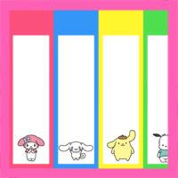 サンリオ風 七夕用短冊 無料ダウンロード・印刷