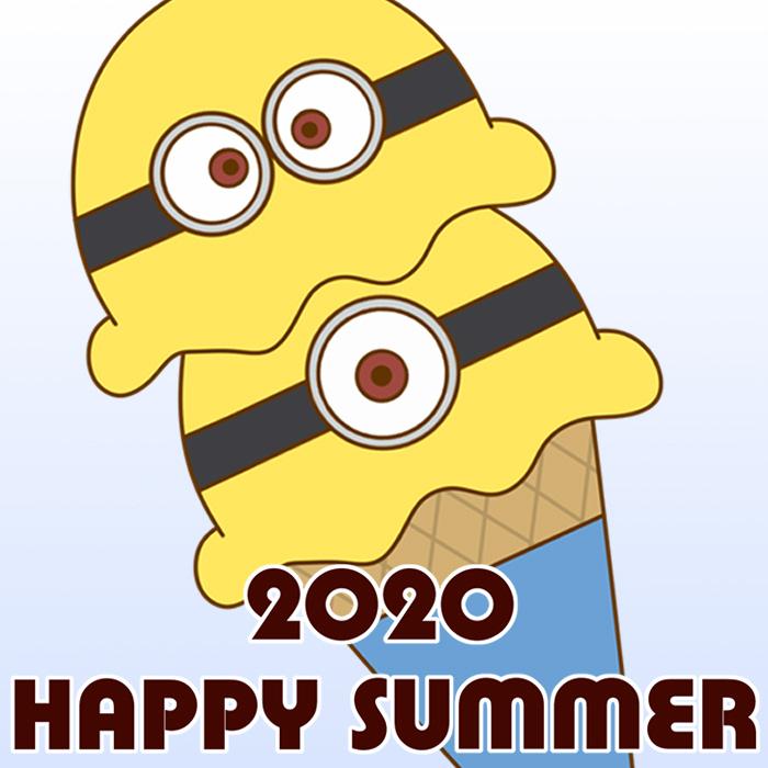 暑中見舞い ラインスタンプ メール 無料ダウンロード ミニオンズ 2020年 令和2年
