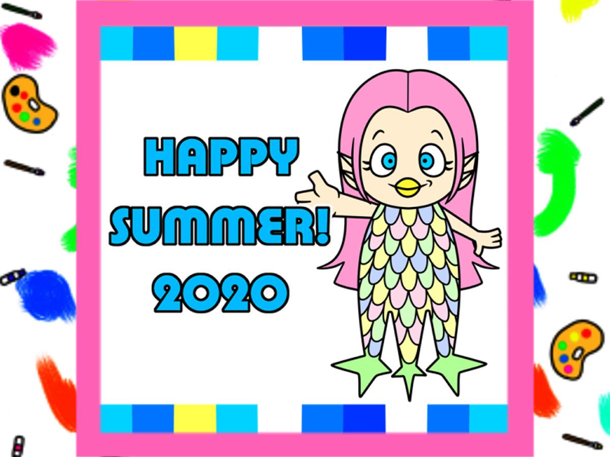 ラインで使える暑中見舞い2020年 無料スタンプ風画像 ダウンロード