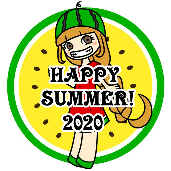 暑中見舞い ラインスタンプ メール 無料ダウンロード スイカ 女の子 2020年 令和2年