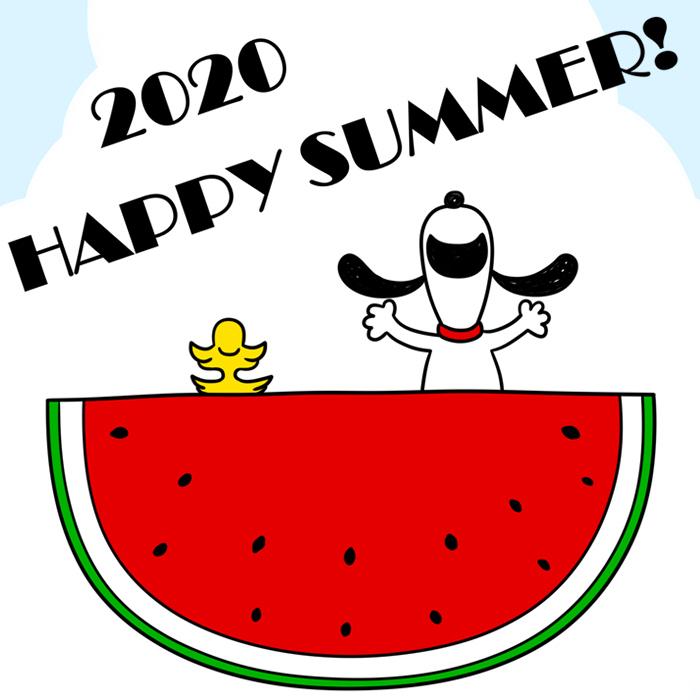 暑中見舞い ラインスタンプ メール 無料ダウンロード スヌーピー 2020年 令和2年